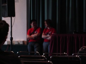 Before the keynote: Tim, me, abject terror. photo: kdreke